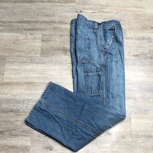 Old Navy Loose Painter Jeans 34 x 30 P53